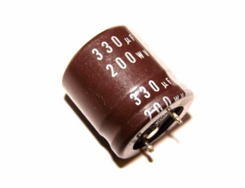 к50-35 330м 200в 22х26 жёсткие выводы электролитический радиальный полярный