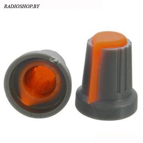 Ручка приборная RR4817 Оранжевый (посадка:6мм,КРУГ; юбка d=14,5мм)