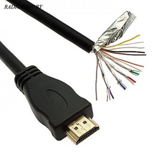 Кабель HDMI 1М с одиним разъемом