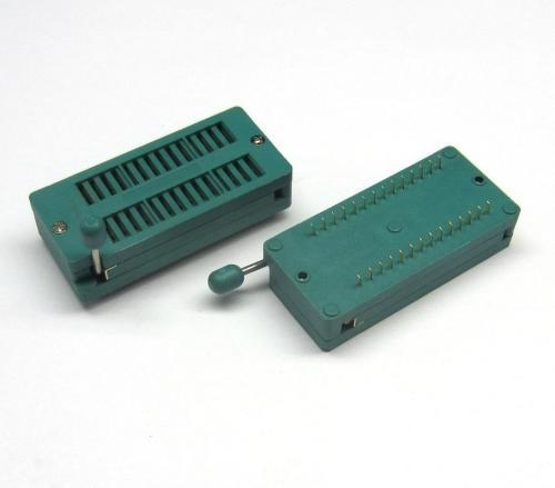 KLS1-108-28-D=15,24 шаг 2.54мм ZIF панелька универсальная 28 выводов