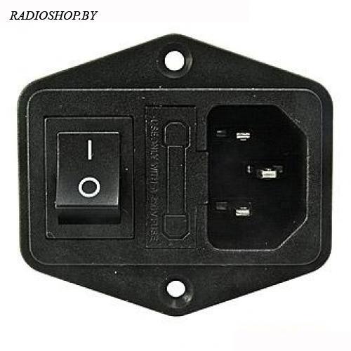 AC-014 (вилка+выключатель+держатель предохранителя)