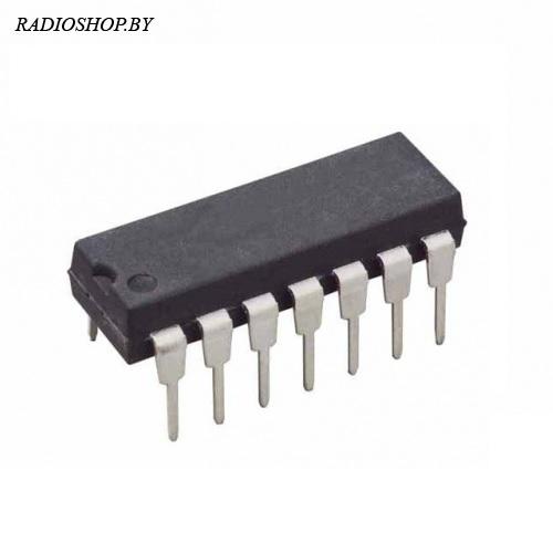 CD4025BE аналог К561ЛЕ10 DIP-14