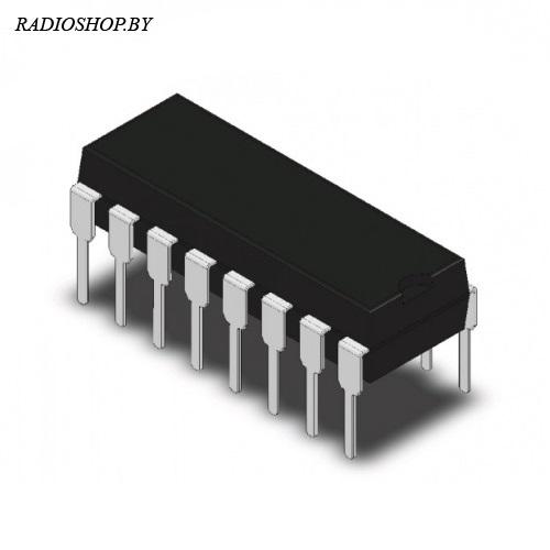 CD74HC123E  DIP-16 (КР1564АГ3)