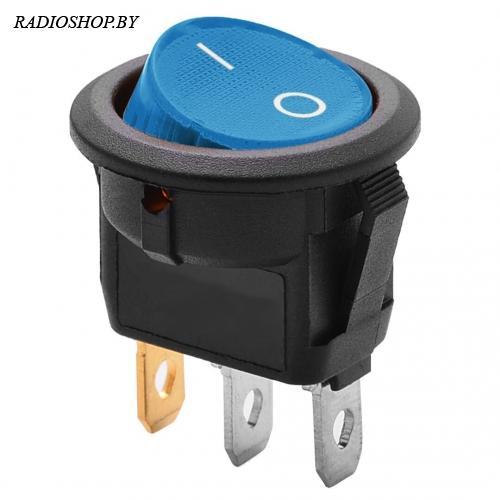 IRS-101-8C3-BL/B on-off 6A 250VAC синий с подсветкой (пасад.диам.20)