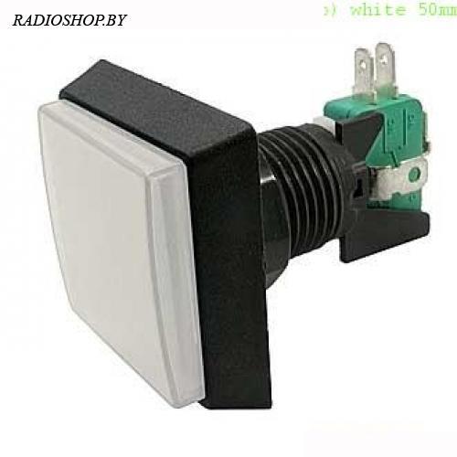 GMSI-2B-S no(nc)+nc(no) white 50mm кнопка
