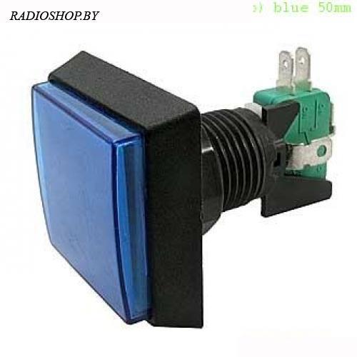 GMSI-2B-S no(nc)+nc(no) blue 50mm кнопка