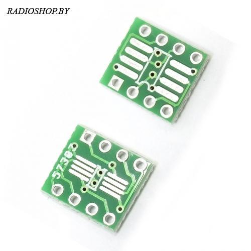 SOIC-8 (SOP-8, SO-8, TSSOP-8) на DIP-8 переходник (адаптер)