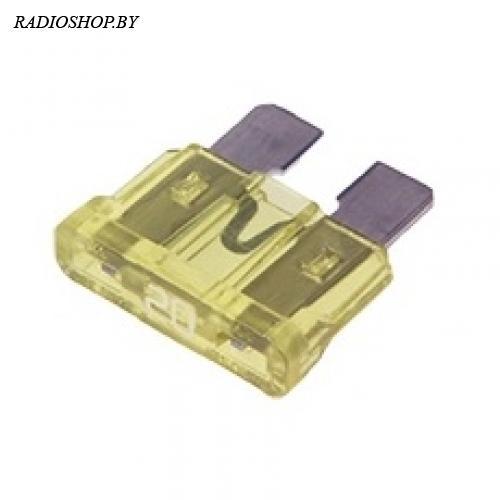 KLS5-270-020 20A 19мм желтый норма предохранитель автомобильный