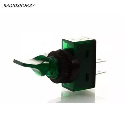 ASW-13-101 on-off 2P зеленый без подсветки
