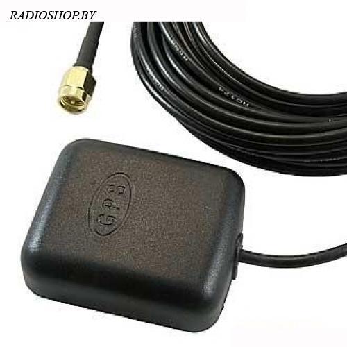 JCGPSF1 (3m RG174) SMA антенна GPS