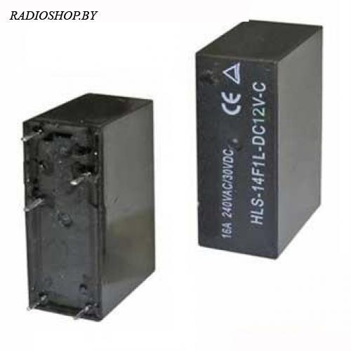 14F1 (JQX-14F1) 12VDC 10A реле электромагнитное (29x20x13mm)