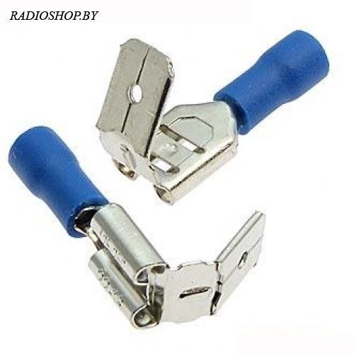 DJ6_PBDD1.25-250 blue (мама) пасадочная ширина 6,3 мм. Клемма ножевая изолированная