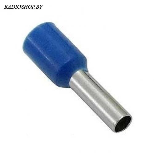 DN02508 blue (2.3x8mm) 2.5мм2 синий наконечник трубчатый изолированный