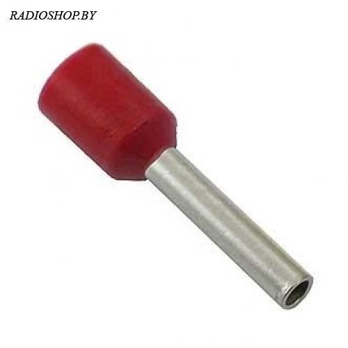 DN01510 red (1.7x10mm) 1.5мм2 красный наконечник трубчатый изолированный