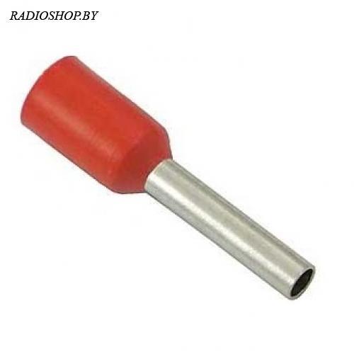 DN01008 red (1.4x8mm) 1.0мм2 красный наконечник трубчатый изолированный