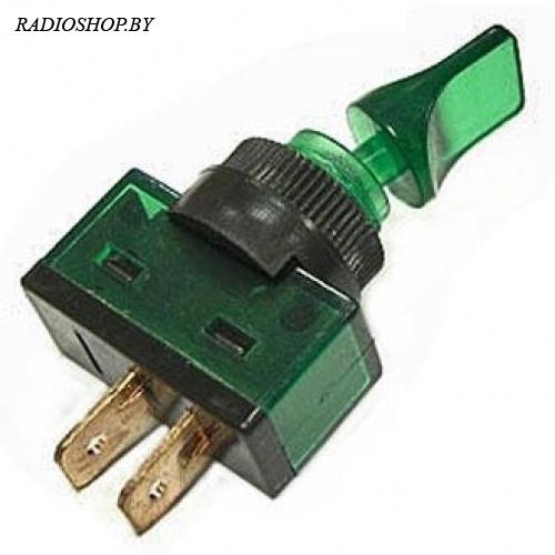 ASW-14-101 on-off 2P зеленый без подсветки. пластмасс