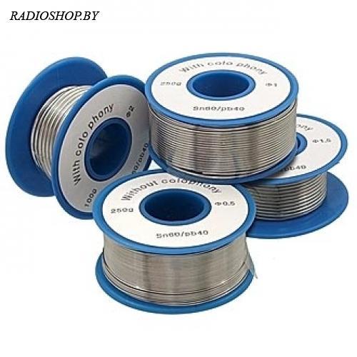 Sn60/Pb40 d0.5mm 100g flux припой с флюсом внутри