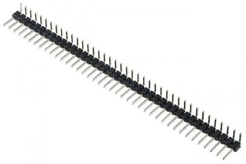 PLS-40R2 (PLS-40R-2) вилка 1-ряд шаг 2,54мм угловая