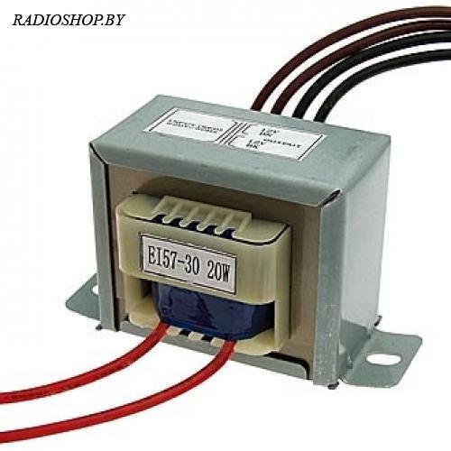 EI57*30 220v to 2x12v 20W трансформатор