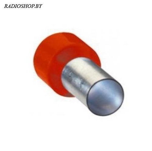 DN16012 red (5.8x12mm) 16.0мм2 красный наконечник трубчатый изолированный