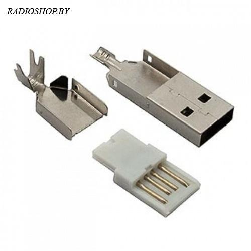 USBA-SP-0 Разъем USB на кабель, тип А (пайка)