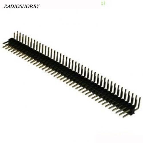PLD-80R (PLD-2x40R) вилка 2-ряд 2,54мм,угловая