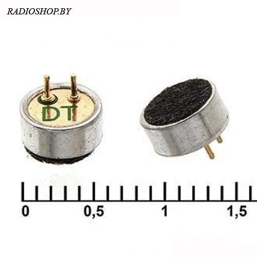 EM-6027P микрофон электретный d=6мм h=2,7мм на два контакта