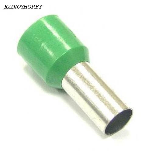 DN16012 green (5.8x12mm) 16.0мм2 зеленый наконечник трубчатый изолированный