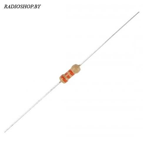 млт-0,25 2мОм (млт-0,125) 5% резистор углеродистыйй 0,25Вт (10шт.)