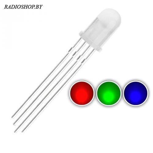 RGB 4pin 5mm светодиод, общ. анод(+)