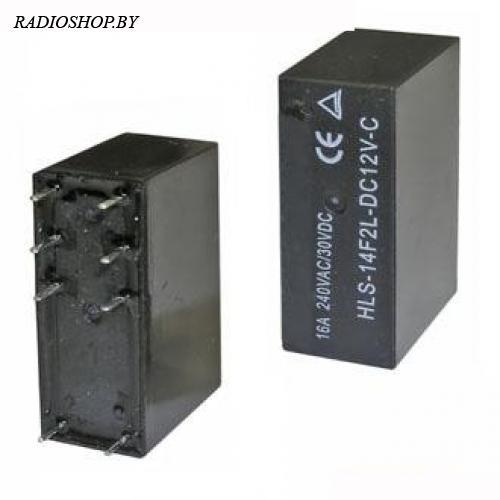 14F2 (845) 12VDC 16A (HLS-14F2L-DC12V-C) реле электромагнитное (29x20x13mm)