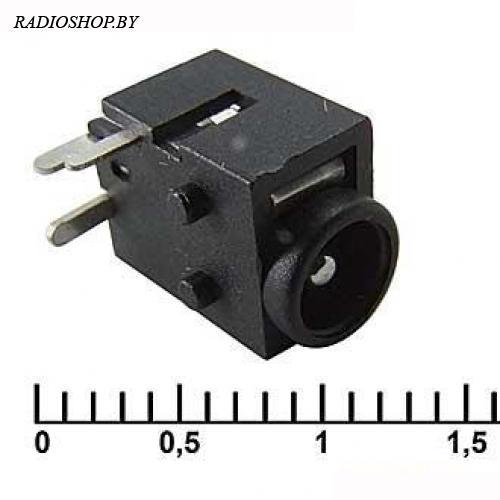 PJ037 1.65mm (под штырьковый разъем 4*1.7 mm) гнездо питания