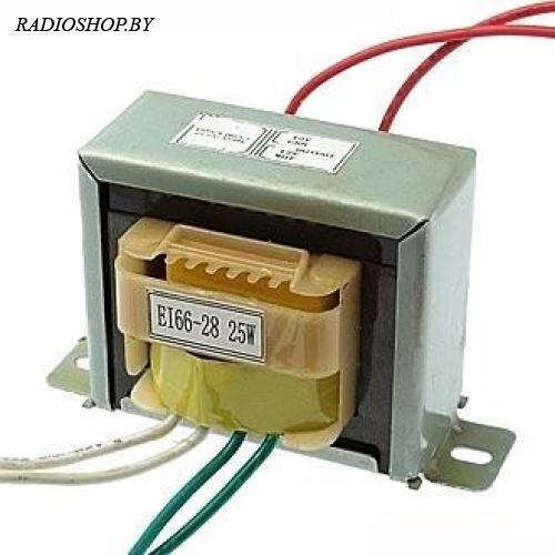 EI66*28 220v to 2x12v 25W трансформатор