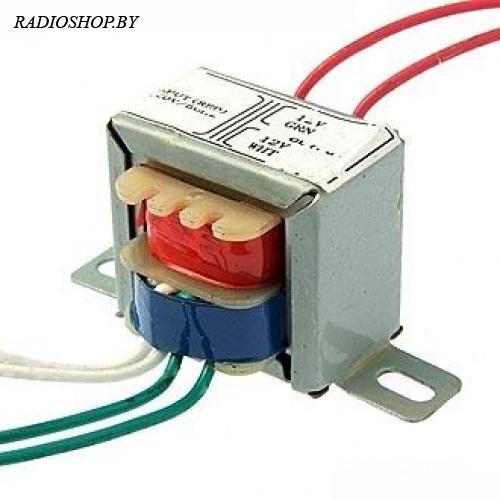EI28*19 220v to 2x12v 1.5W трансформатор